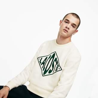 Lacoste Unisex LIVE Crew Neck XL Embroidery Fleece Sweatshirt