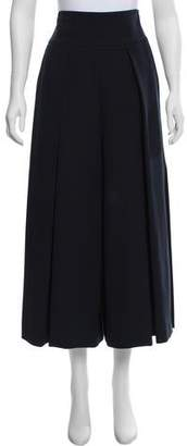 Milly High-Rise Wide-Leg Culottes