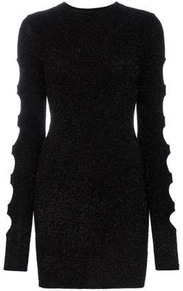 Beau Souci cut-out and eyelet detail fitted mini dress