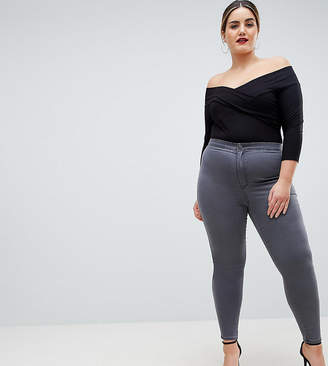 Asos (エイソス) - ASOS Curve ASOS DESIGN Curve Rivington high waisted jeggings in new gray wash