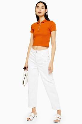 Topshop Off White Balloon Jeans