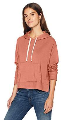 Monrow Women's Pullover Hoody with Side Slits