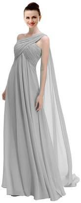 CaliaDress Women Elegant A Line Long Evening Dress Bridesmaid Gowns C191LF US