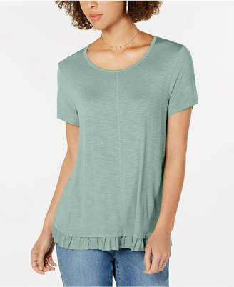 Style&Co. Style & Co Ruffled-Hem Top