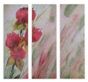 VIDA Set of Three Flowers In The Wind Wall Art