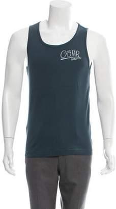 G Star Graphic Print Sleeveless T-Shirt blue Graphic Print Sleeveless T-Shirt