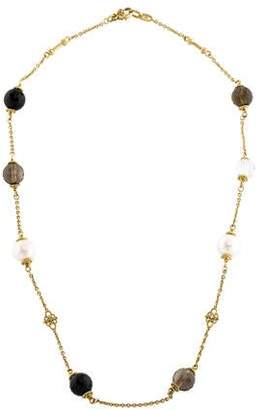 Judith Ripka 18K Multistone & Diamond Station Necklace