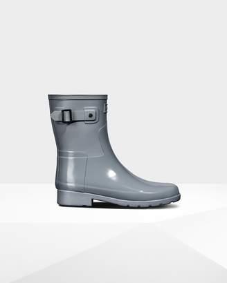 Hunter Women's Refined Slim Fit Gloss Duo Short Rain Boots