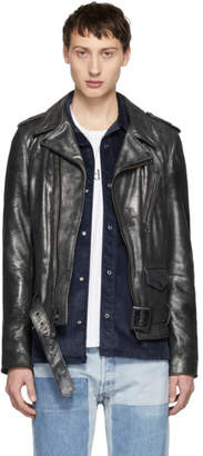Schott Gunmetal Leather Rogue Jacket