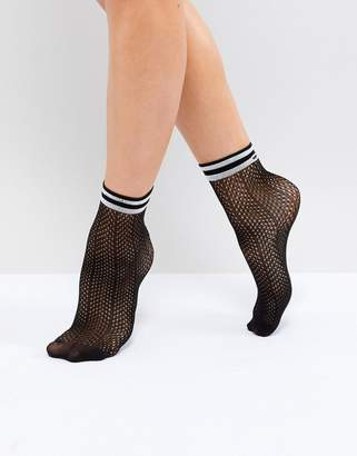 Pieces Herringbone Sock With Varsity Trim