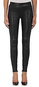 Saint Laurent Women's Leather Leggings-Black