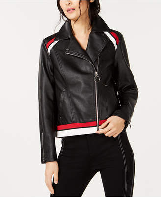 INC International Concepts I.N.C. Faux-Leather Moto Jacket, Created for Macy's
