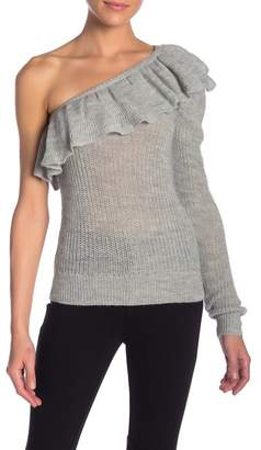 Rebecca Taylor One Shoulder Alpaca Pullover