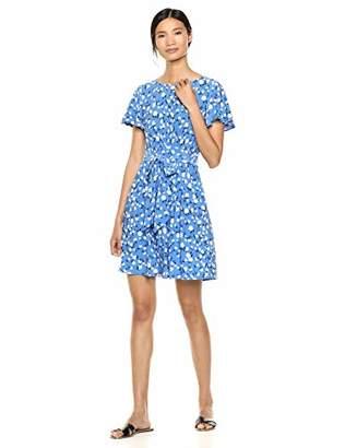 Chaps Women's Short Sleeve Printed Dress