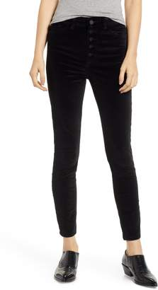 DL1961 Chrissy Ultra High Waist Velveteen Ankle Skinny Jeans