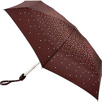 Fulton Tiny 2 Confetti Hearts Compact Folding Umbrella, Purple