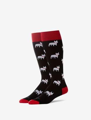 Tommy John Tommyjohn French Bulldog Stay Up Dress Sock