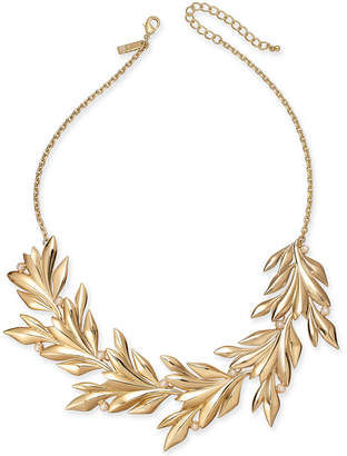"INC International Concepts I.N.C. Gold-Tone Imitation Pearl Leaf Statement Necklace, 19"" + 3"" extender, Created for Macy's"