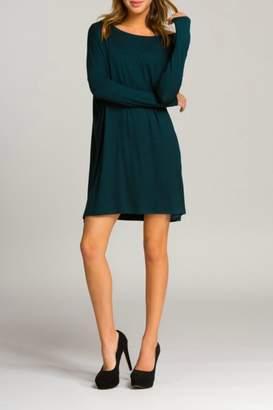 Cherish Grey Piko Dress
