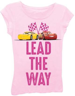 Freeze Cars Cruz & Lightning McQueen Lead the Way Tee (Little Girls)