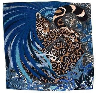 Hermes Jaguar Quetzal Cashmere Silk Shawl w/ Tags