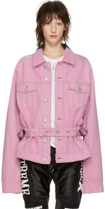 Martine Rose Pink Denim Tie-Dye Jacket