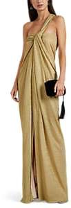 Lanvin Women's Lamé One-Shoulder Gown - Gold