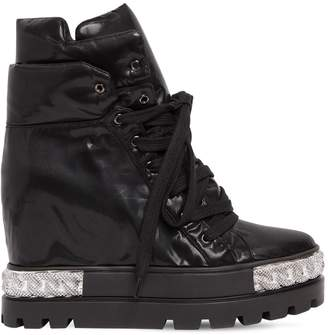 Casadei 100mm Nylon Platform Sneakers