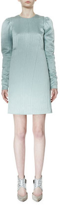 Lanvin Long-Sleeve Degrade Slip Dress, Aqua $2,125 thestylecure.com