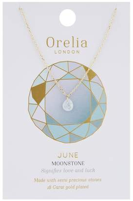 Orelia June Birthstone Necklace