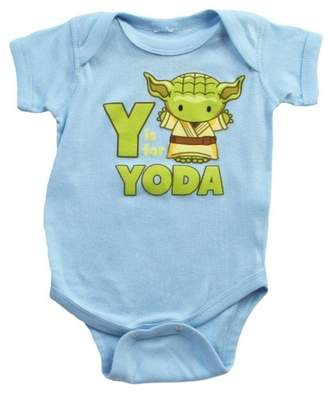 Mighty Fine Star Wars Y is for Yoda Infant Navy Light Bodysuit, 0-6 Months
