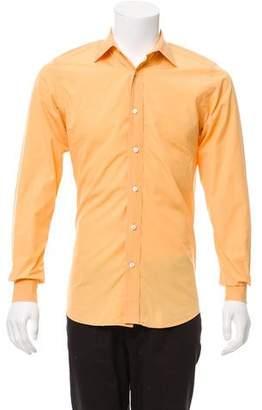 Saint Laurent Woven Button-Up Shirt
