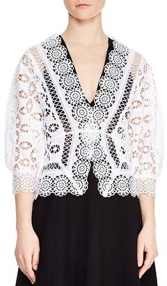 Sandro Paula Cotton Medallion-Lace Blouse
