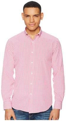 Bugatchi Long Sleeve Button Down Collar Woven Shaped Men's Clothing