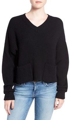 Women's Joe's 'Vance' Boxy Crop Wool Sweater $298 thestylecure.com