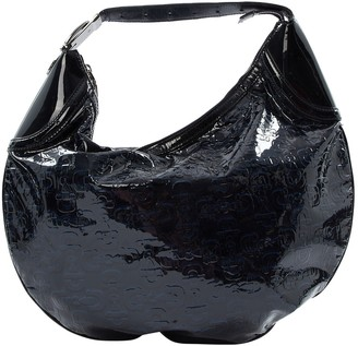 Gucci Navy Patent leather Handbag