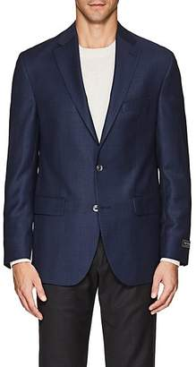 Jack Victor MEN'S NEAT WOOL TWO-BUTTON SPORTCOAT - BLUE SIZE 44 R