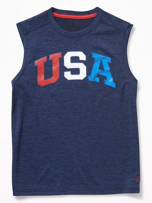 Old Navy Go-Dry Cool Graphic Performance Tank for Boys