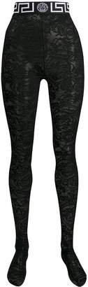 Versace lace tights