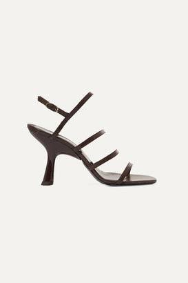 Simon Miller Strappy Tee Leather Slingback Sandals - Brown