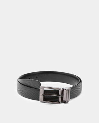 Ted Baker HAMMOK Herringbone leather reversible belt