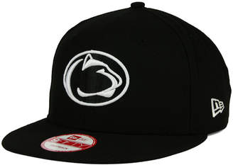 New Era Penn State Nittany Lions Ncaa Black White Fashion 9FIFTY Snapback Cap