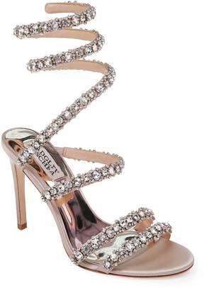 Badgley Mischka Peace Crystal Ankle Wrap Sandal