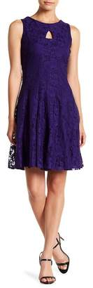 Gabby Skye Front Cutout Sleeveless Lace Dress