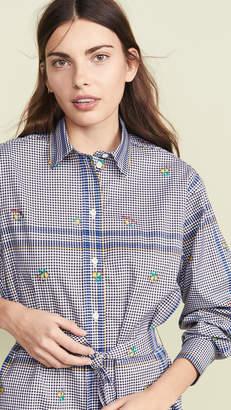 MAISON KITSUNÉ Limone Jacquard Gio Shirtdress
