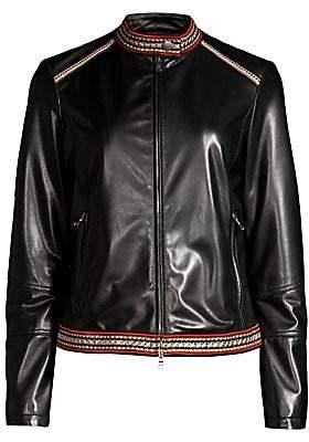 Etro Women's Leather Front-Zip Jacket