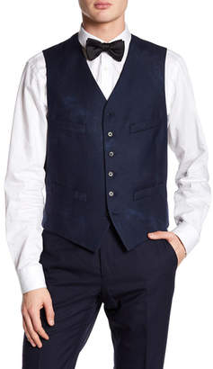 John Varvatos Collection Slim Fit Buttoned Wool Vest