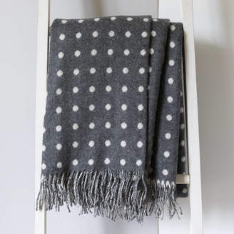 Lily&Kirkby Fine Lambswool Polka Dot Throws