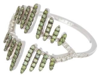 Meira T 14K White Gold Green Diamond Ring - 0.42 ctw