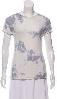 The Elder Statesman Tie-Dye Cashmere & Silk Blend Top
